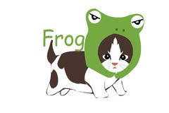 Cat frog stock illustration