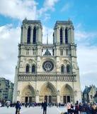Cathédrale de巴黎圣母院 库存照片