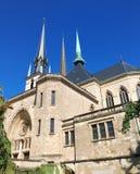 Cathédrale Notre-Dame Luxemburg arkivbilder