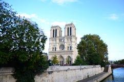 Cathédrale Notre Dame Paris Sunny Day fotografia stock