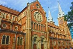 Cathédrale Notre-Dame de Saïgon immagini stock libere da diritti