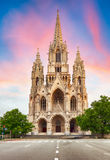 Cathédrale à Bruxelles, Notre Dame en Belgique, vue de face image libre de droits