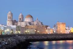 Cathédrale à Cadix, Espagne Photos libres de droits