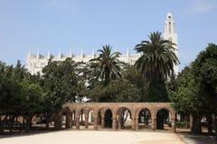 Cathédrale à Casablanca, Maroc photo libre de droits