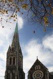 Cathédrale à Christchurch Image libre de droits