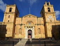 Cathédrale à La Valette image libre de droits