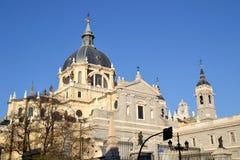 Cathédrale à Madrid, Espagne Photographie stock