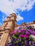 Cathédrale à Malaga, Espagne Photos stock