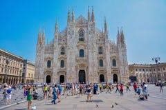 Cathédrale à Milan Image libre de droits