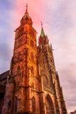 Cathédrale à Nuremberg, Allemagne photos libres de droits