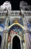 Cathédrale à Orléans (France) la nuit Photos libres de droits
