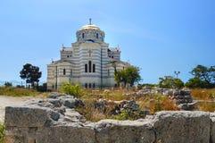 Cathédrale à Sébastopol Photographie stock