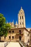 Cathédrale à Segovia Photo stock