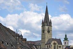 Cathédrale à Sibiu, Roumanie Photographie stock libre de droits