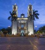 Cathédrale à Valladolid Mexique images libres de droits