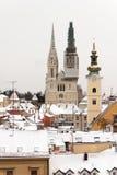 Cathédrale à Zagreb image stock