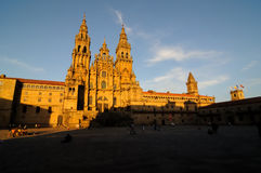 cathédrale 2 aucun Santiago Images stock
