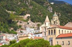 Cathédrale admirablement décorée de St Andrew à Amalfi, Italie Photo stock