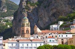 Cathédrale admirablement décorée de St Andrew à Amalfi, Italie Image stock