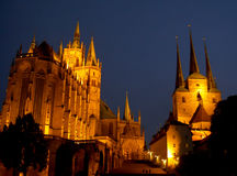 Cathédrale Allemagne d'Erfurt photo stock