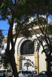 Cathédrale Anglicane sur le rocher de Gibraltar à l'entrée vers la mer Méditerranée Photos libres de droits