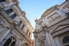 Cathédrale antique à Venise Photographie stock