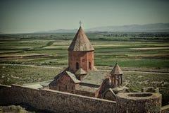 Cathédrale antique de temple de culture de monastère d'architecture d'église de l'Arménie image stock