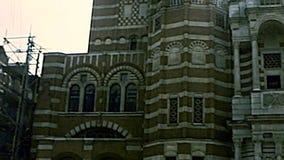 Cathédrale archivistique de Westminster à Londres banque de vidéos