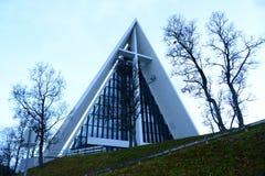 Cathédrale arctique, Tromso, Norvège Image stock