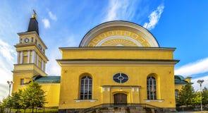 Cathédrale au centre d'Oulu, Finlande Photographie stock libre de droits