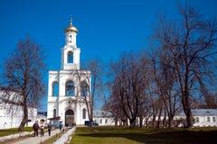 Cathédrale au monastère, Novgorod le grand Photo stock