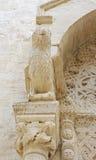 Cathédrale Bisceglie (Pouilles) Italie de Protome Photo stock