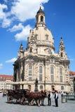 Cathédrale blanche de Dresde Photo libre de droits
