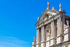 Cathédrale catholique antique de Scalzi Venise Italie d'église Photographie stock