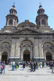 Cathédrale catholique métropolitaine, Santiago de Chili photos stock