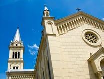 Cathédrale catholique Sighisoara images libres de droits