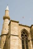 Cathédrale Chypre de rue Sophia de mosquée de Selimiye Photographie stock libre de droits