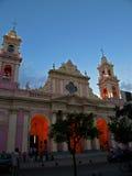 Cathédrale coloniale, Argentine Photographie stock libre de droits