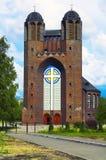 Cathédrale croisée sainte à Kaliningrad Images stock