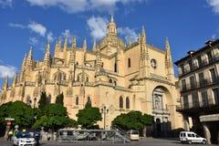 Cathédrale dénommée gothique resplendissante, Ségovie Espagne images libres de droits