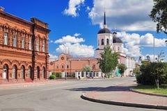 Cathédrale d'épiphanie à Tomsk, Russie Photos stock