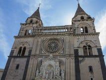 Cathédrale d'Acireale Image libre de droits