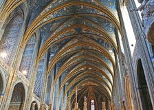 Cathédrale d'Albi de site d'héritage de l'UNESCO Images libres de droits