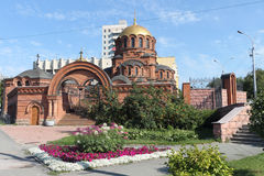 Cathédrale d'Alexander Nevski en Russie Photos stock