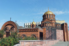 Cathédrale d'Alexander Nevski en Russie Photo stock