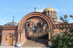 Cathédrale d'Alexander Nevski en Russie Images stock