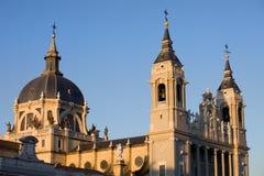 Cathédrale d'Almudena à Madrid Image stock