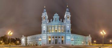 Cathédrale d'Almudena à Madrid, Espagne Photos libres de droits