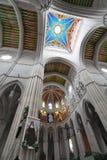 Cathédrale d'Almudena, à Madrid, l'Espagne Photo stock