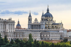 Cathédrale d'Almudena, Madrid Photographie stock libre de droits